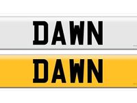 B4 WNN DAWN with screws private cherished personalised personal registration plate number