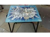 Sturdy desk decoupaged by ' Andyman UpCycling in Batman or flamingo decoupaged design