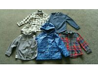Bundle of Boy's Shirts & Rain Jacket 3-4 yrs