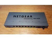 NetGear ProSafe GS110TP 8 Port Gigabit Smart Switch w PoE and Fiber uplink