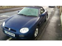 MGF 1.8vvc Great wee driver, electric windows, wing mirrors. Good roof, water tight.