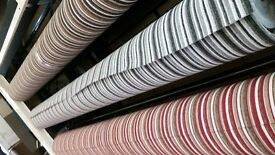 Stripe Carpets & Plain Staircase & Rooms