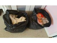 2 large black bags full off girls clothes from 9-12 months to 2 yrs
