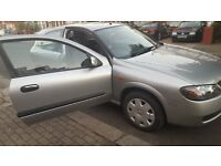 Nissan Almera SE 2003 78000 Silver Parking Sensors, AC Xeon Headlights 3dr good condition