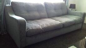 Grey fabric 4 Seater Sofa