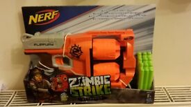 NERF GUN ZOMBIE STRIKE FLIPFURY BRAND NEW IN BOX