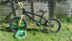 Multi colour Bmx bike
