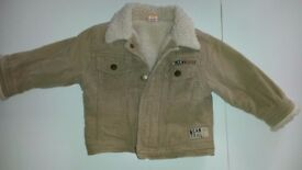 Mini Mode cord/fleece lined jacket 9-12 months- perfect condition