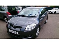 2008 DIESEL TOYOTA 1.4 AURIS T3 D-4D 5 DOOR HATCHBACK IN MET GREY ONLY 45K S/HISTORY MARCH MOT +