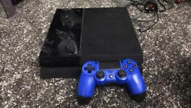 Ps4 500gb plus blue controller and game