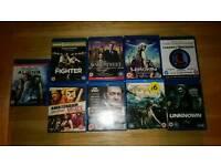 9 blu ray dvds