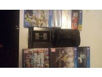 500 gb ps4 with 6 games