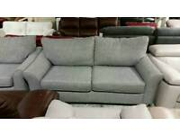 Grey 3 seater sofa and armchair