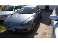 06 plate rx8 in grey 231bhp. needs some work £500