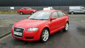 2007 Audi A3 1.9 tdi se 5dr navigation Bluetooth dvd screen fitted full year mot tidy car bargain p
