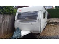 2006 Burstner Ventana 500 TS 4 birth caravan with motor mover and fixed bed in excellent condition