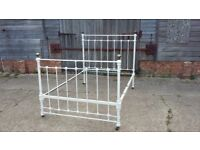 Vintage Brass and Iron Double 4ft 6 Bed Base.