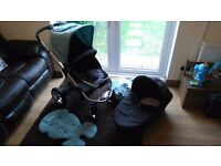 Icandy apple with pram and cot, lovely condition