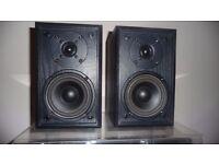 Acoustic Solutions AV-21 Bookshelf Speakers (pair, black, 50W)