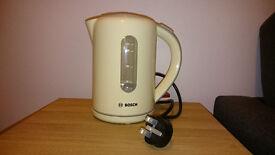 BOSCH kettle, cream, excellent condition