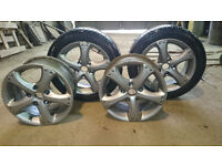 """Mazda 626 15"""" Set of 4x ALLOY WHEELS WITH 2 TYRES 185/55 R15"""