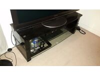 """TV 50"""" Stand Black Glass Used RRP £400"""