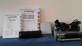 Alpine CDA-9855R With KCA-420I