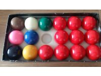 Pool table snooker balls, snooker cue extension, and triangle