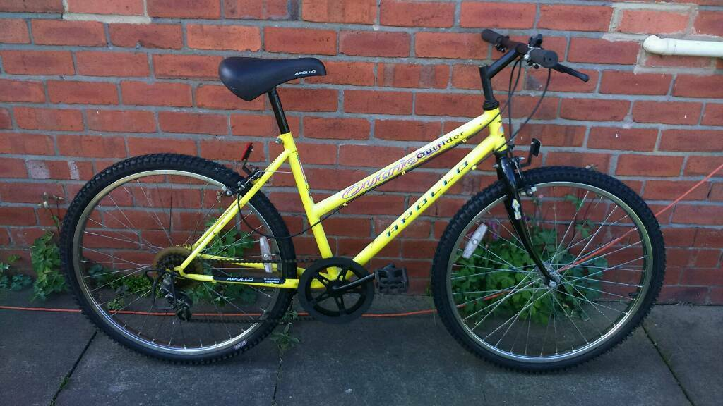 Ladies apollo mountain bike 18 inch frame good working condition and ready to ridein Sunniside, Tyne and WearGumtree - 26 inch wheels with good tyres, 5 speed shimano lever shift gears, good brakes, good seat, can deliver for cost of fuel, contact bill 07478309256 sunniside NE16 5NU