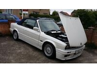 Classic Bmw E30 Original 325i in pearl white with Mtech2 kit m3 e36