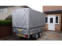 Brand NEW Car box Trailer TWIN AXLE 1300 kg BRAKED !!! 263cm x 145cm