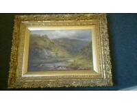 George Turner Rare Signed 1905 Oil Painting Dovedale