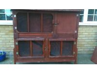 Large Double Rabbit Hutch - £70 or Offer