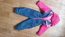 Togz fleece lined suit. 5yrs, 120cm/47in