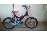 "16"" monster high girls bike excellent condition."
