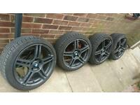 "18"" alloy wheels 5x120 bmw 1/3 series"