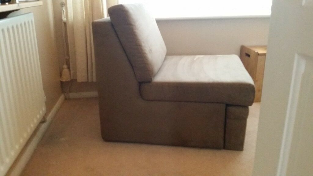Excellent John Lewis As New Pull Out Brown Faux Suede Single Chair Bed Very Good Condition Rarely Used In Maidstone Kent Gumtree Dailytribune Chair Design For Home Dailytribuneorg