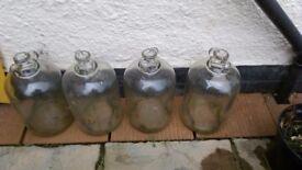 4 Demijohn for wine making or light or Christmas decorations