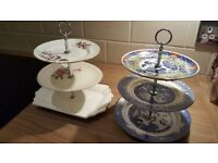 2 small cake stands