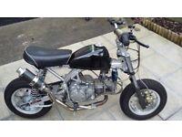 skyteam monkeybike 07 reg with 155z honda engine.