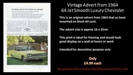 Vintage Advert From 1964 Jet Smooth Luxury Chevrolet