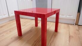 1 red gloss IKEA side table