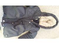 Junior J Girls fur lined winter coat