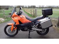 KTM 990 Adventure Orange, Very good condition, many extras including full luggage and low miles.
