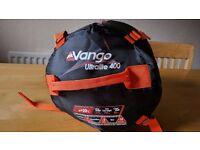 Vango ultralight 400 sleeping bag 3 season mummy style orange