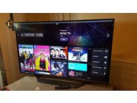 """LG JOHN LEWIS 55"""" Smart 3D 4K UHD HDR LED TV,built in Wifi,Freeview HD ,Excellent condition"""