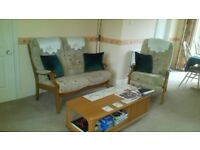 2 seater sofa and 1 recliner chair