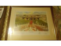 Perfect condition timothy o'brien print, `lest we forget`. Signed by 3 pilots.
