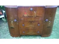 vintage oriental cocktail cabinet