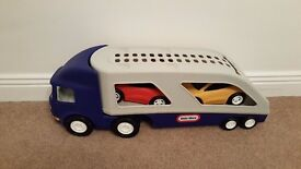 Little tykes car transporter excellent condition with both cars included.